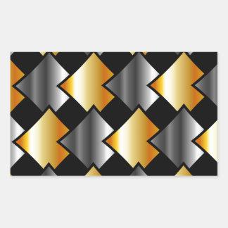 Metallic tiles rectangular sticker