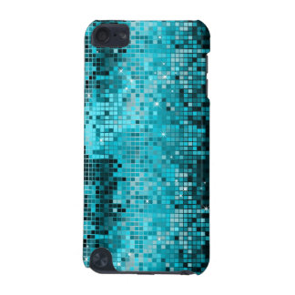 Metallic Turquois Sequins Look Disco Mirrors Bling iPod Touch (5th Generation) Cases