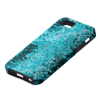 Metallic Turquois Sequins Look Disco Mirrors Bling Tough iPhone 5 Case