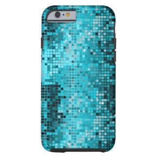 Metallic Turquois Sequins Look Disco Mirrors Bling Tough iPhone 6 Case