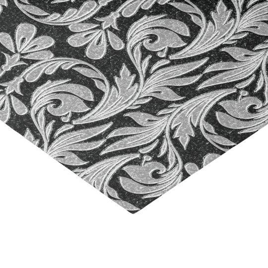Metallic Waves-Black-White-TISSUE WRAP PAPER