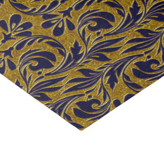 Metallic Waves-Navy-Gold-TISSUE WRAP PAPER