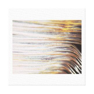 Metallic Waves Pattern Canvas Print B