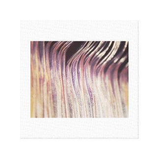 Metallic Waves Pattern Canvas Print C