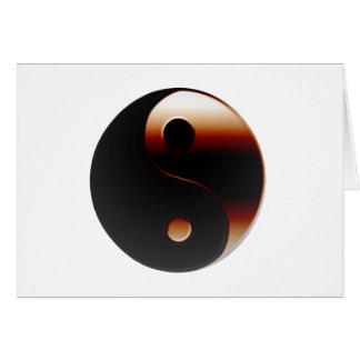 Metallic Yin Yang Greeting Cards