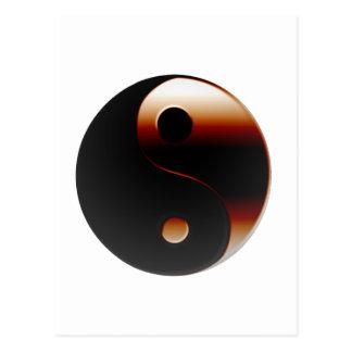 Metallic Yin Yang Postcard