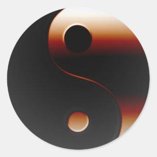 Metallic Yin Yang Stickers