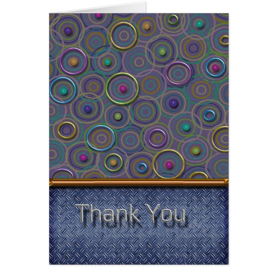 Metallica Circles and Tread Thank You Card