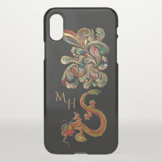 Metallized Ornate Chinese Dragon Art iPhone X Case