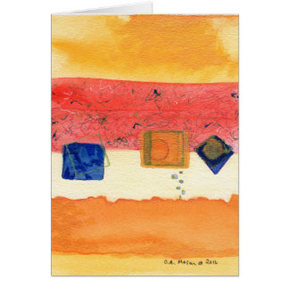 Metamorphosis Abstract Art Greeting Card
