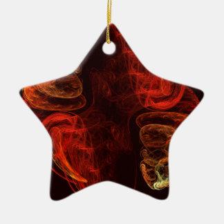 Metamorphosis Abstract Art Star Ornament