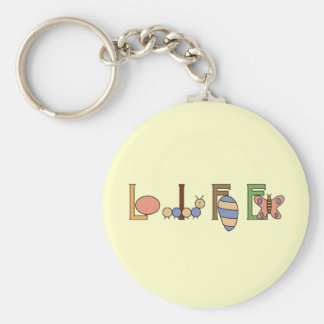 Metamorphosis Life of a Butterfly Basic Round Button Key Ring