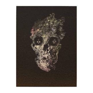 Metamorphosis Skull Wood Print