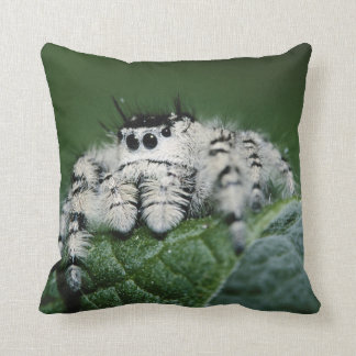 Metaphid Jumping Spider Throw Pillow