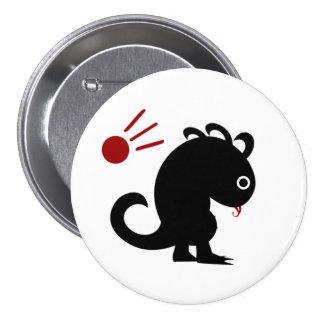 Metaphor #5 (Dinosaur w/ meteorite) 7.5 Cm Round Badge
