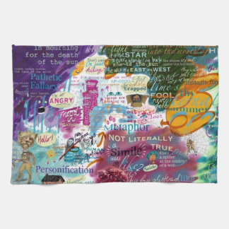 Metaphor Tea Towel KS2 KS3 Digital Print