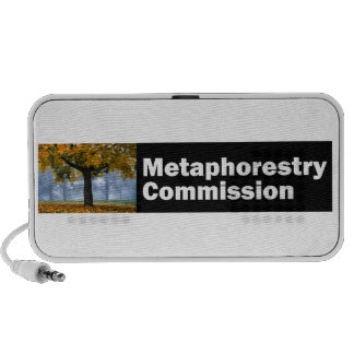 Metaphorestry Commission logo (wide) Portable Speaker
