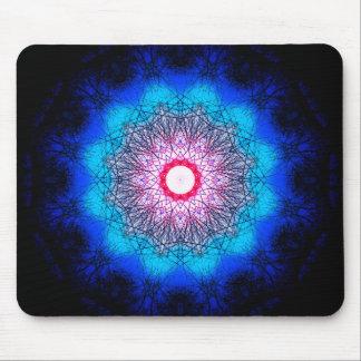 Metaphysical Snowflake Mandala Mouse Mat