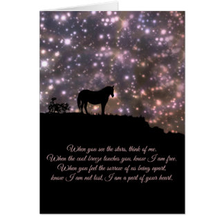 Metaphysical Spiritual Sympathy Card with Horse