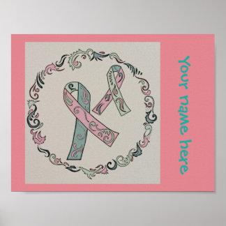 Metastatic Breast Cancer Ribbons Poster