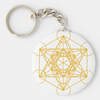 Metatron Cube Gold Key Ring
