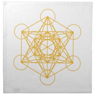 Metatron Cube Gold Napkin