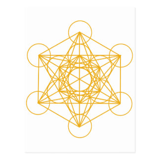 Metatron Cube Gold Postcard