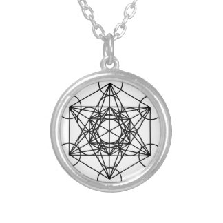 Metatron Cube Round Pendant Necklace