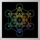 Metatron Cube Sacred Geometry Poster