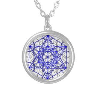 Metatron Flower Round Pendant Necklace