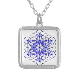 Metatron Flower Square Pendant Necklace