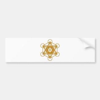 Metatron Gold Glow Bumper Sticker