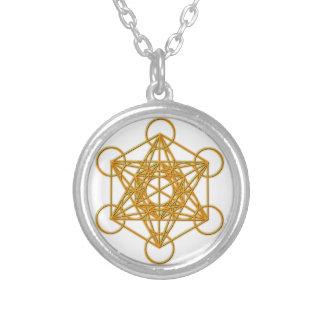 Metatron Gold Glow Round Pendant Necklace