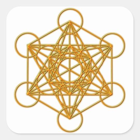 Metatron Gold Glow Square Sticker