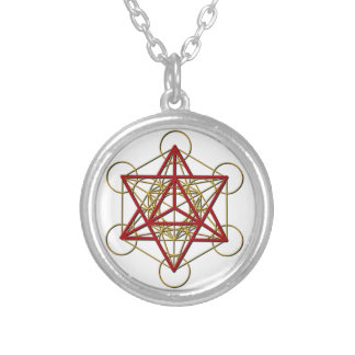 Metatron Merkaba Round Pendant Necklace
