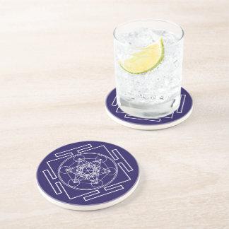 Metatron's Cube Drink Coaster