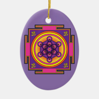 Metatron's Cube Mandala Christmas Ornament