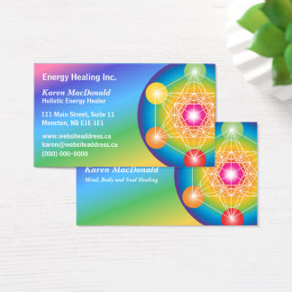Metatron's Cube Spectrum Business Card