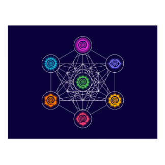 Metatrons Cube, Chakras, Cosmic Energy Centers Postcard