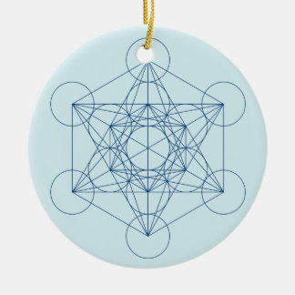 Metatron's Cube Christmas Ornament