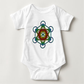 Metatron's Cube (Color 1) Baby Bodysuit