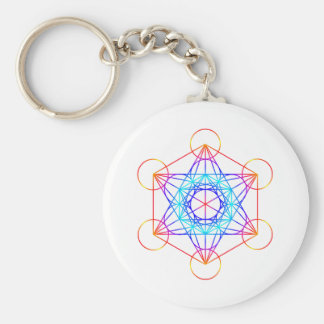 Metatron's Cube (Color 2) Basic Round Button Key Ring