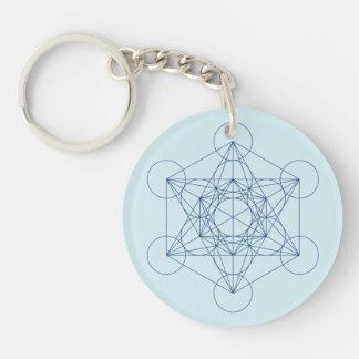 Metatron's Cube Double-Sided Round Acrylic Key Ring
