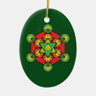 Metatron's Cube Merkaba Christmas Ornament