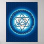 Metatrons cube - Merkaba - flower of the life Poster