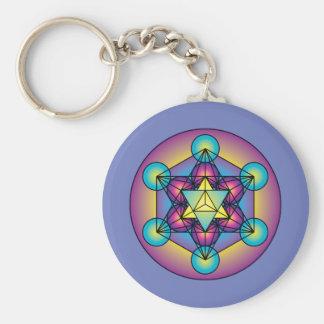 Metatron's Cube Merkaba Key Ring
