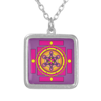 Metatron's Cube Merkaba Mandala Silver Plated Necklace