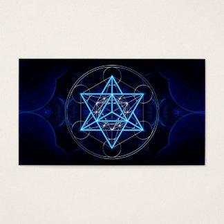 Metatrons cube - Merkaba - star tetrahedron Business Card