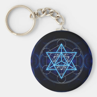 Metatrons cube - Merkaba - star tetrahedron Keychain