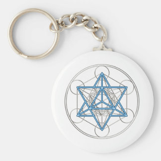 Metatrons cube - Merkaba - star tetrahedron Key Ring
